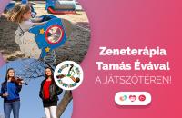 Zeneterápia a pécsi Gyermekklinika játszóterén